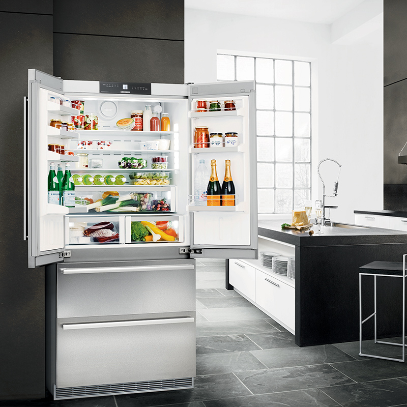 Freestanding French Door Refrigerator Freezer W 910
