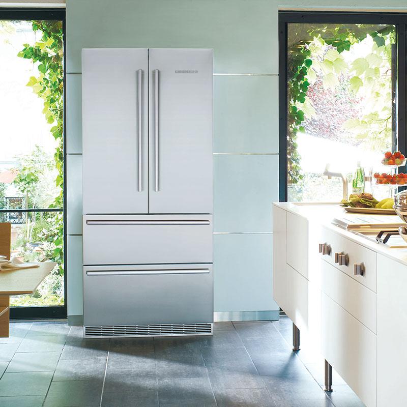 Freestanding French Door Refrigerator Freezer W 910