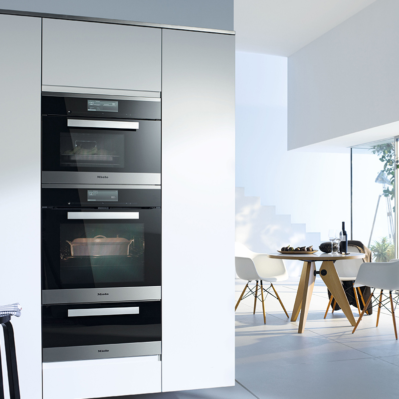 steam combination oven cleansteel kouzina appliances. Black Bedroom Furniture Sets. Home Design Ideas