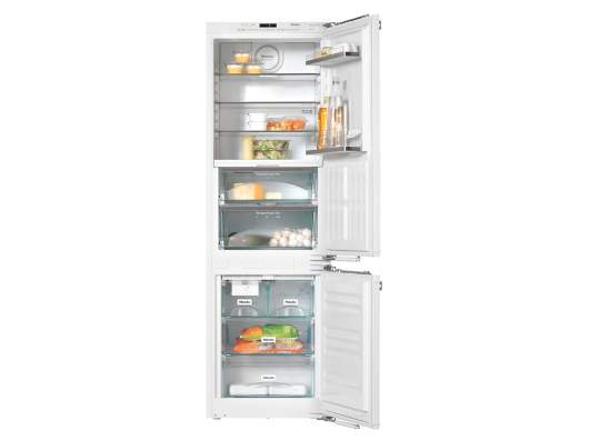 Integrated Fridge Freezer Combination Plumbed In Ice Maker